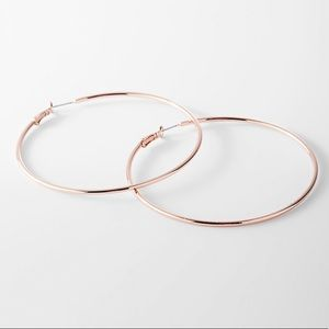 "Express NWT 2"" gold hoop earrings"